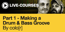 Making a Drum and Bass Groove with colo[r]